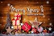 Leinwanddruck Bild - Merry Christmas and happy new year 2019  -  Greeting Card