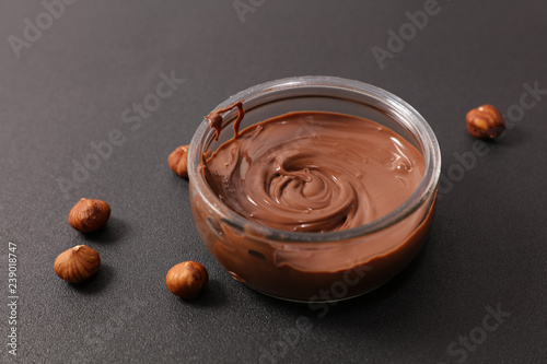 obraz lub plakat chocolate spread and hazelnut
