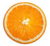 Orange slice white background clipping path