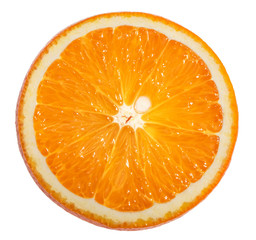 Orange slice white background clipping path © azure