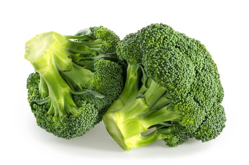 Broccoli isolated white background © azure