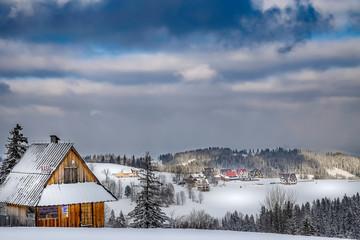 Wspaniała śnieżna zima w górach © Anna Granat