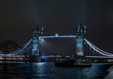 London bridge illuminated with focused strong lights