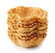 Leinwanddruck Bild - empty waffle baskets