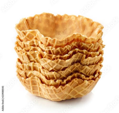 Leinwanddruck Bild empty waffle baskets