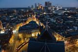 The hague city skyline sunrise, Netherlands