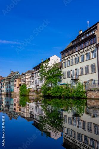 Historic quarter called little France (La Petite France) in Strasbourg, France - 239168328