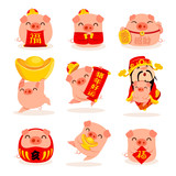 Collection of little piggy - 239178701