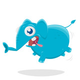 funny cartoon illustration of a funny elephant © shockfactor.de
