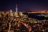 New York City landscape in evening
