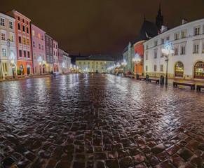 Mały Rynek nocą Kraków © Bezes