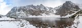 Panorama of Tatra mountains with Black Pond, Poland