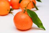 Fresh ripe Oranges, fruit isolated on white background