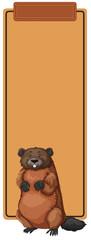 A beaver on border template © blueringmedia