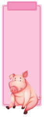 Pig on the pink frame © blueringmedia