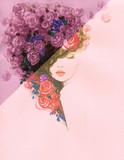 beautiful woman. fashion illustration. watercolor painting - 239285170