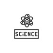 Atom science outline icon. linear style sign for mobile concept and web design. Atomic structure simple line vector icon. Symbol, logo illustration. Pixel perfect vector graphics