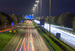 Light trails from headlights and tail lights on the M1 Motorway, Dublin  - 239303532
