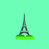 france paris eiffel tower vector design