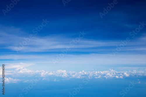 Clouds, a view from airplane window - 239314343