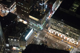 Cross road from above at night