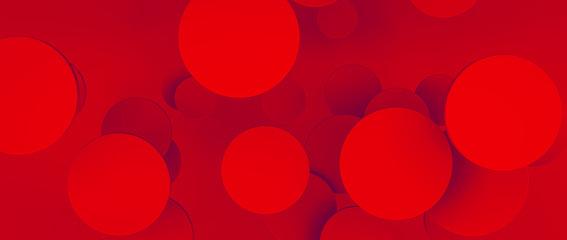 Abstrakte künstlerische 3D Design Grafik mit Kreisen