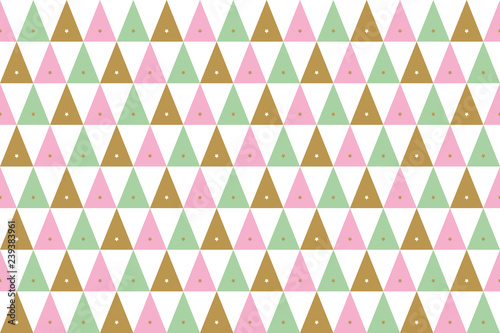fototapeta na ścianę seamless background of christmas patterns in gold, pink and green on white