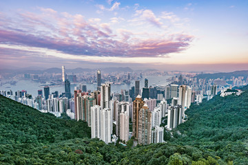 View of the downtown of Hong Kong from Victoria Peak. © serjiob74