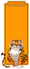A tiger on blank template © blueringmedia