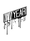 graffiti stempel tropfen logo design feiern new year neujahr silvester party jahr ende neues cool © Style-o-Mat