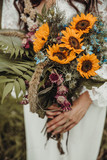 Brautstrauß Sonnenblumen Sommer