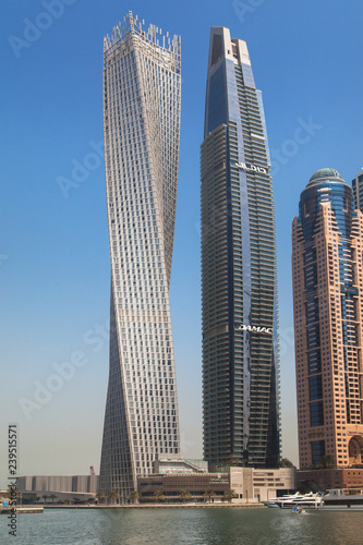 obraz PCV Cayan Tower and Damac Residenze