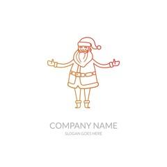 Christmas Happy New Year Religion Business Wallpaper Stock Vector Logo Design Template Santa Claus