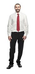 smiling businessman on white © tiero