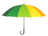 Rainbow umbrella on white © Andrzej Tokarski