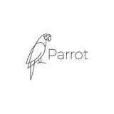 parrot logo bird vector illustration icon
