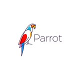 parrot logo bird vector illustration icon