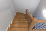 Staircase interior with new wooden steps - 239557157
