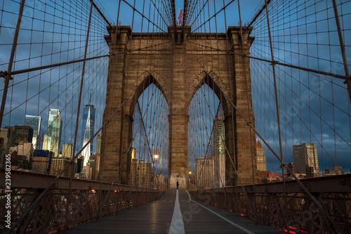 mata magnetyczna Brooklyn Bridge New York City