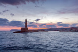 Lighthouse in Chania. Greece. - 239584165