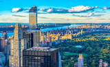 New York City Skyline and Historic Buildings, aerial view, USA
