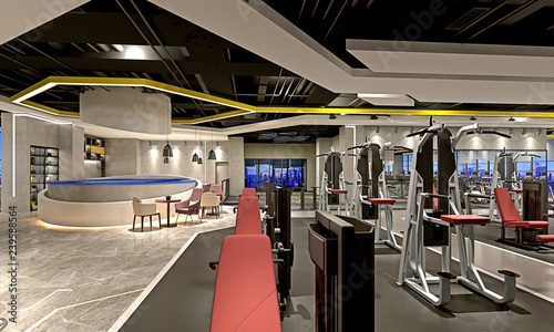 3d render spa fitness saloon