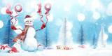 Schneemann - Weihnachtsmotiv
