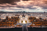 Aerial view of Paris with river in foreground © XtravaganT