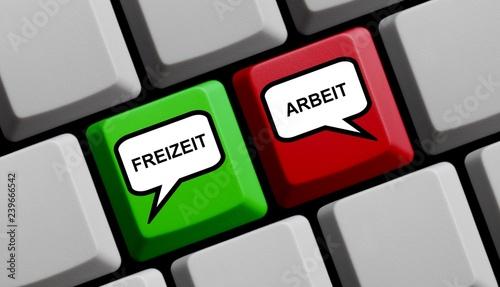 canvas print picture Computer Tastatur: Freizeit und Arbeit