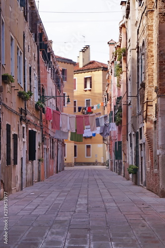 Typical street in Venice, Italy - 239673977