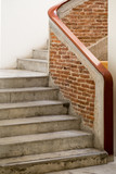 Concrete staircase in an old building