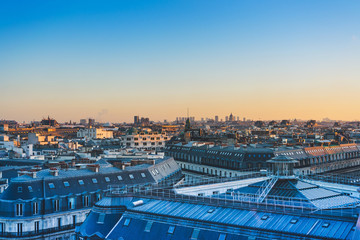 Paris traditional rooftop scenery - with space for text or image
