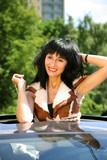 Beautiful brunette in the automobile © Tatiana Morozova