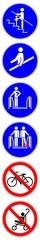 ssne19 SafetySignNewEscalator ssne - shas566 SignHealthAndSafety shas - german - Handlauf benutzen (vertikal) Rolltreppe - english - use handrails provided (vertical) escalator - xxl 1to6 g6881 © fotohansel